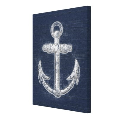 Vintage Nautical Anchor Canvas Wall Art