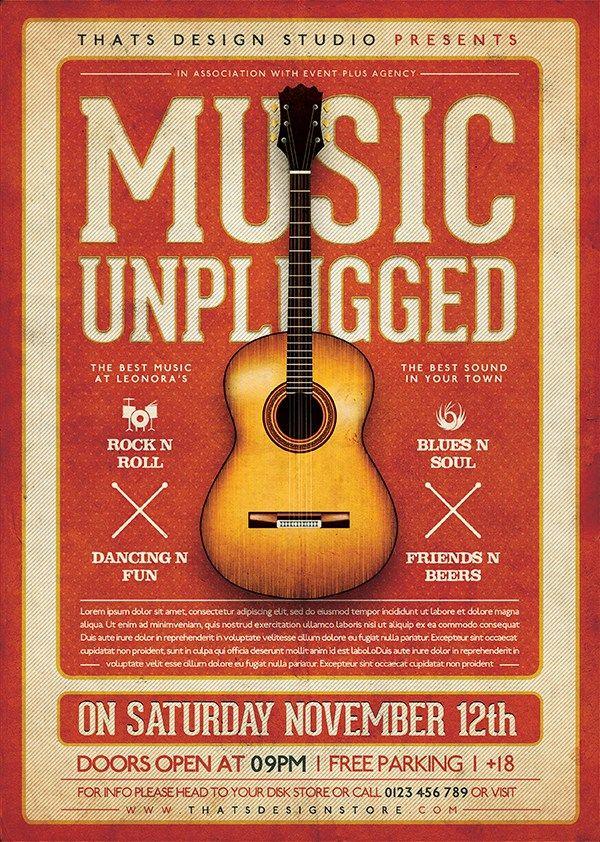 Live Concert Flyer Template 13