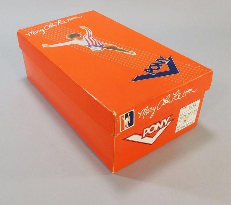 1980's Vintage Mary Lou Retton Pony Lo Top Tennis Shoe Sneaker Box 1984 Olympics #Pony #USOlympicTeam