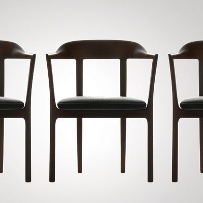 """Ole Wanscher: """"Words like delicate, elegant and orderly come to mind when describing the designs of Ole Wanscher (1903–1985). Wanscher was a student of Kaare Klint, and later followed in his footsteps as Professor at the Furniture School at the Royal Academy in Copenhagen."""""""