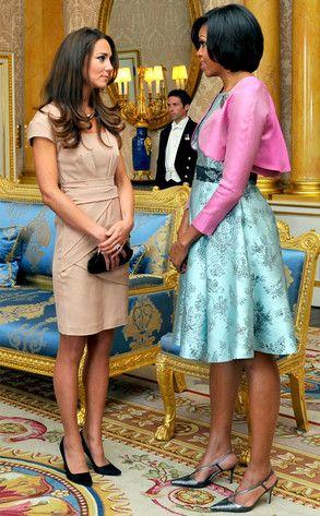 Michelle Obama Camel Toe | Kate Middleton & Michelle Obama: OMG, Two Fashionistas Collide! | E ...