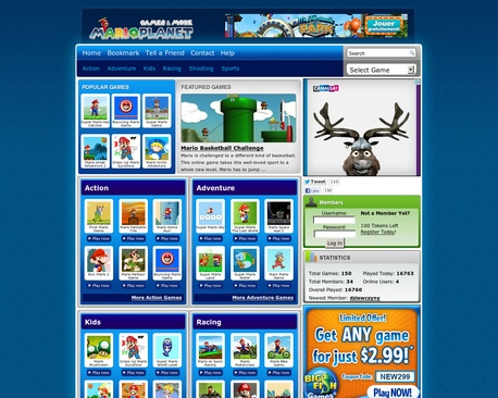 Play Mario games online for free. Find the most entertaining Mario games of the internet. Take a time to play Super Mario in action, adventure, puzzle, shooting, racing and more games.