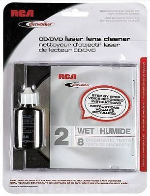 RCA Discwasher CD DVD Laser Lens Cleaner 2 Brush Wet 8 Tests New in Factory Pkg