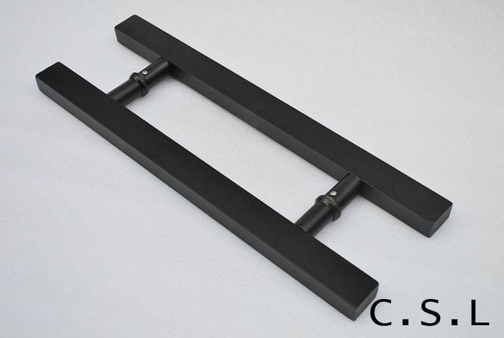 Design Storefront Door Pull Handles Tubing Stainless Steel For Entry/Glass/Wood Door 500mm