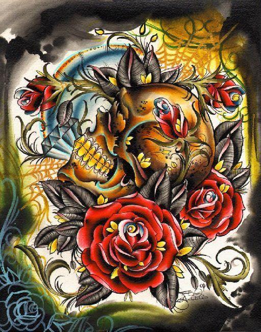 Gold Teeth by Tomas Archuleta Skull Diamonds Canvas Art Giclee Print – moodswingsonthenet