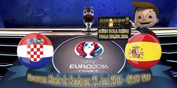Prediksi Kroasia Vs Spanyol 22 Juni 2016
