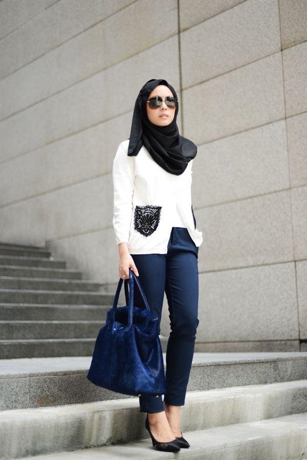 Malaysian blogger Vivy Yusoff - Red Valentino cardi + Chanel kitten heels + Roberto Cavalli bag