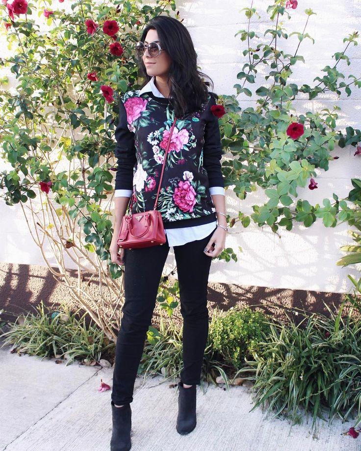 """1,709 curtidas, 30 comentários - Jessica (G) Flores (@jessicaflores) no Instagram: """"Floral  A coleção de inverno da @damyller tá linda demais! Amo essa estampa floral com fundo…"""""""