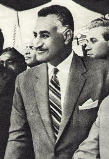 Gamal Abdel Nasser, first president of Egypt