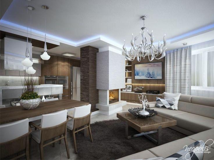 Výrazný luster ako dominanta v obývačke