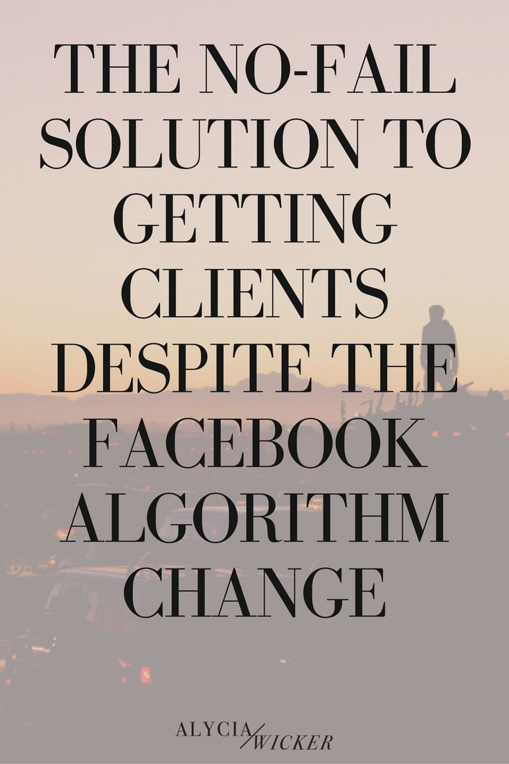 The Facebook algorithm change is going to affect your business. But not really any more than it ever did before. But, it's the end of the world as we know it. No, no it's not and if you're gonna shit your pants every time there's a change to their algorithm you'd better invest in a pack o