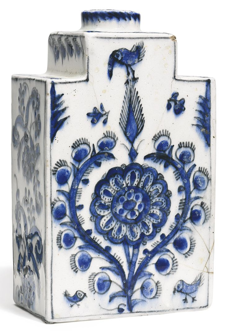 A blue and white Kutahya flask, Turkey, first half 18th century   Lot   Sotheby's