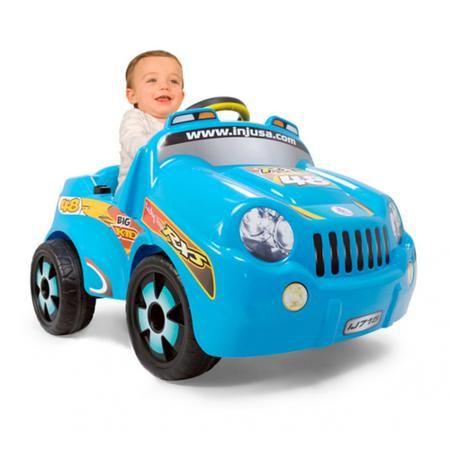 Injusa Big Kid  — 6759р. ---------------------------------------  Электромобиль Injusa Big Kid – это намного круче, чем обычный велосипед. Ведь он позволяет ездить с почти космической скоростью и вызывать восхищение у всех ребятишек во дворе. За руль электромобиля может сесть малыш, достигший одного года. Кроха сумеет улучшить координацию движений, развить внимание, логику, получить первые навыки вождения. Машина может работать целый час без подзарядки и преодолевать достаточно высокие…