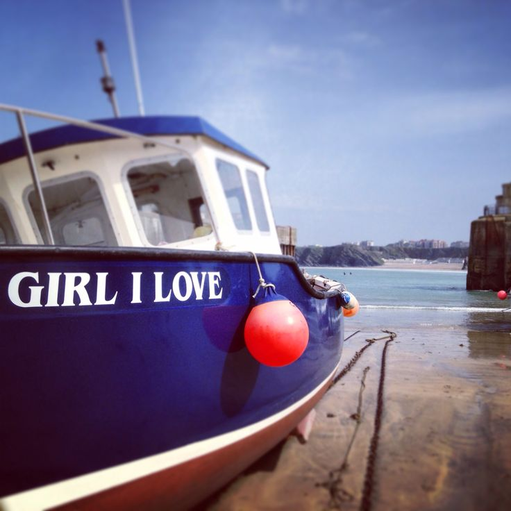 Girl I love #newquay #cornwall #fishingboats #newquayharbor
