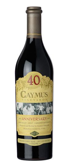 2012 Caymus Vineyards 40th Anniversary Cabernet Sauvignon Napa Valley 750ML