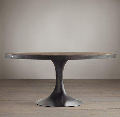 Aero Oval Table Rh The Kitchen Round Pedestal Dining