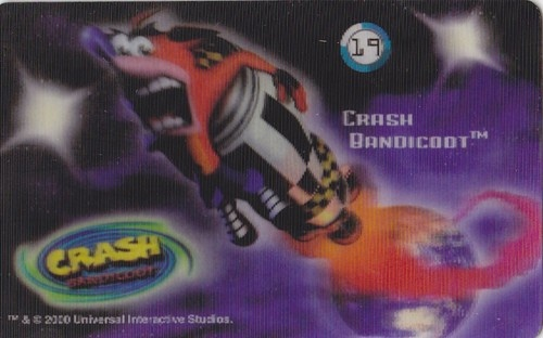 CARD CARTA 3D  CRASH BANDICOOT MR. DAY PARMALAT 2000 CARTA N.  19  OTTIMA