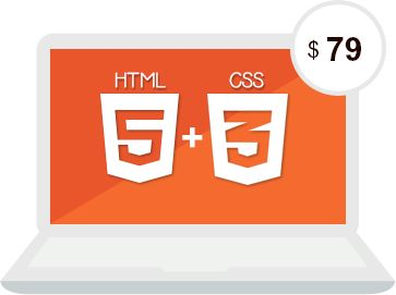 A image of HTML5 and CSS3