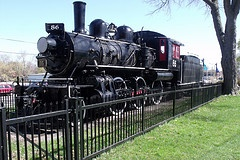 Engine 86 preserved and located in Queen's Park (Western Fair Grounds) London, Ontario, Canada