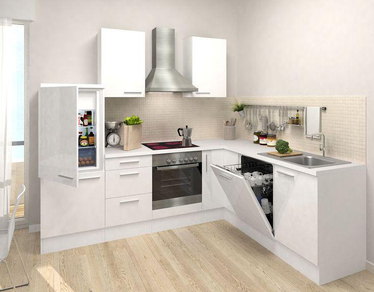 Respekta premium l küche küchenzeile leerblock küchenleerblock 260 x 200 cm weiß