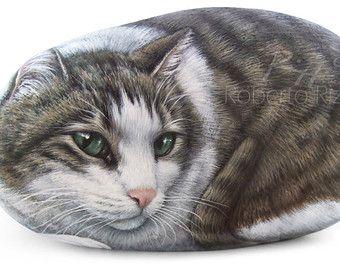 Custom Cat Portrait Incredibly Detailed Totally von RobertoRizzoArt