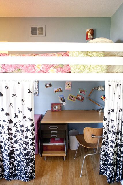 loft beds are a great way to save space but they can also be super