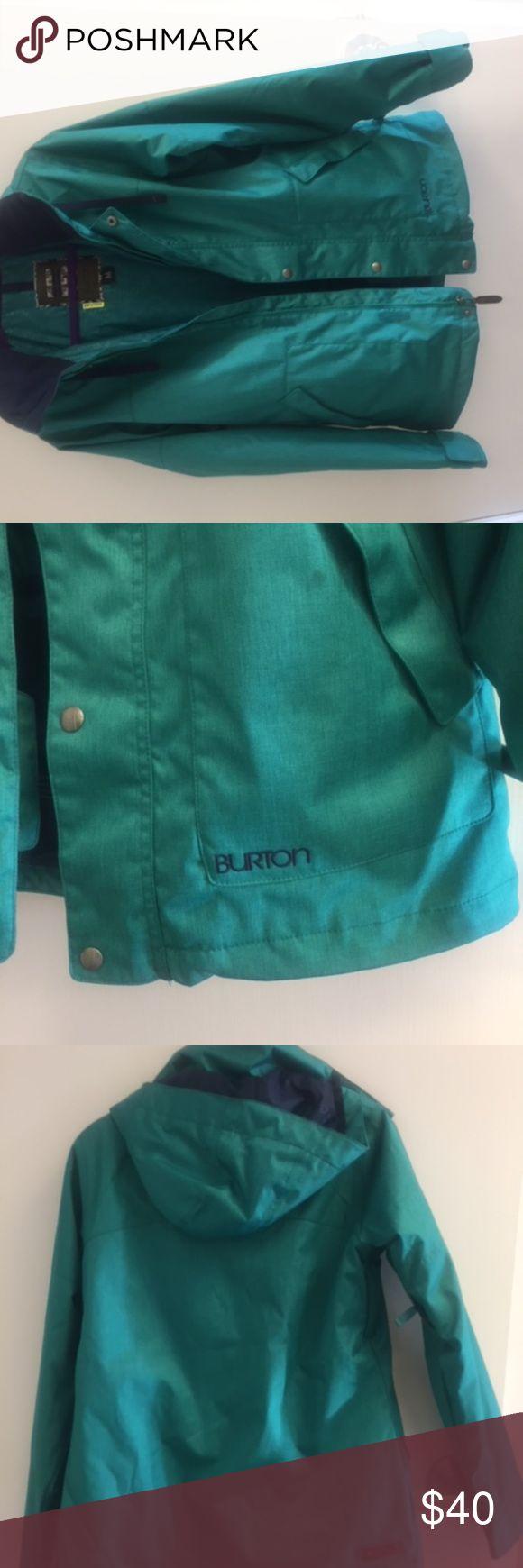 Burton Ski/Board Jacket Burton Insulated Ski/Board Jacket only worn once. Green/Navy   Size M Burton Jackets & Coats