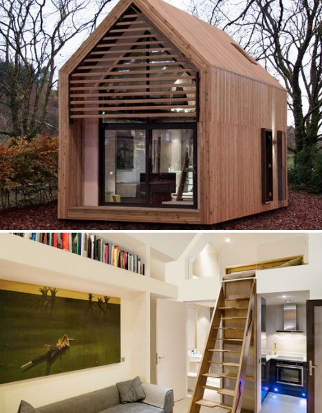 Offgrid micro-homesTiny House Interiors, Tiny House Design, Tiny Homes, Micro Hom, Tiny Houses, Guest Houses, House Interior Design, Exterior Side, Sleeping Loft