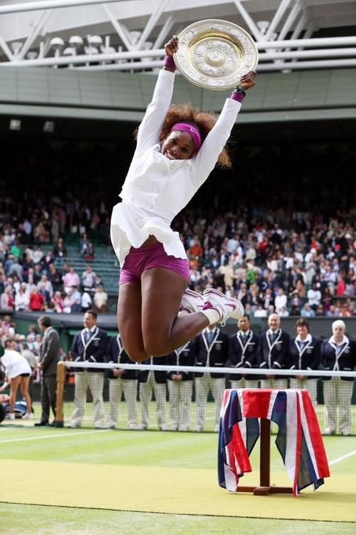 Serena Williams In Action, Winning Her 5th Wimbledon Title in 2012