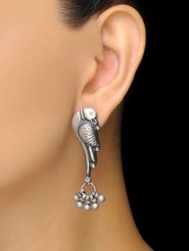 Parrot Silver Earrings