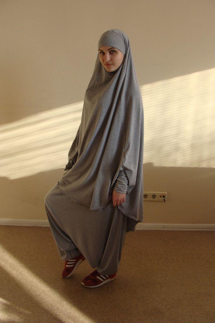 Franch khimar suit Muslim sport suit Harem by ScarfTurbanHijab
