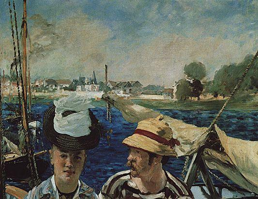 Argenteuil, couple en tenue de canotage, 1874, Edouard Manet