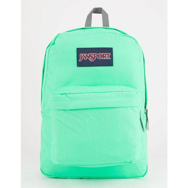 Jansport Superbreak Backpack ($36) ❤ liked on Polyvore featuring bags, backpacks, padded backpack, padded bag, jansport rucksack, backpack bags and daypack bag