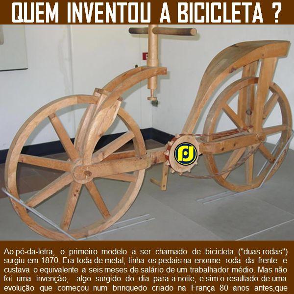 Quem inventou a bicicleta?