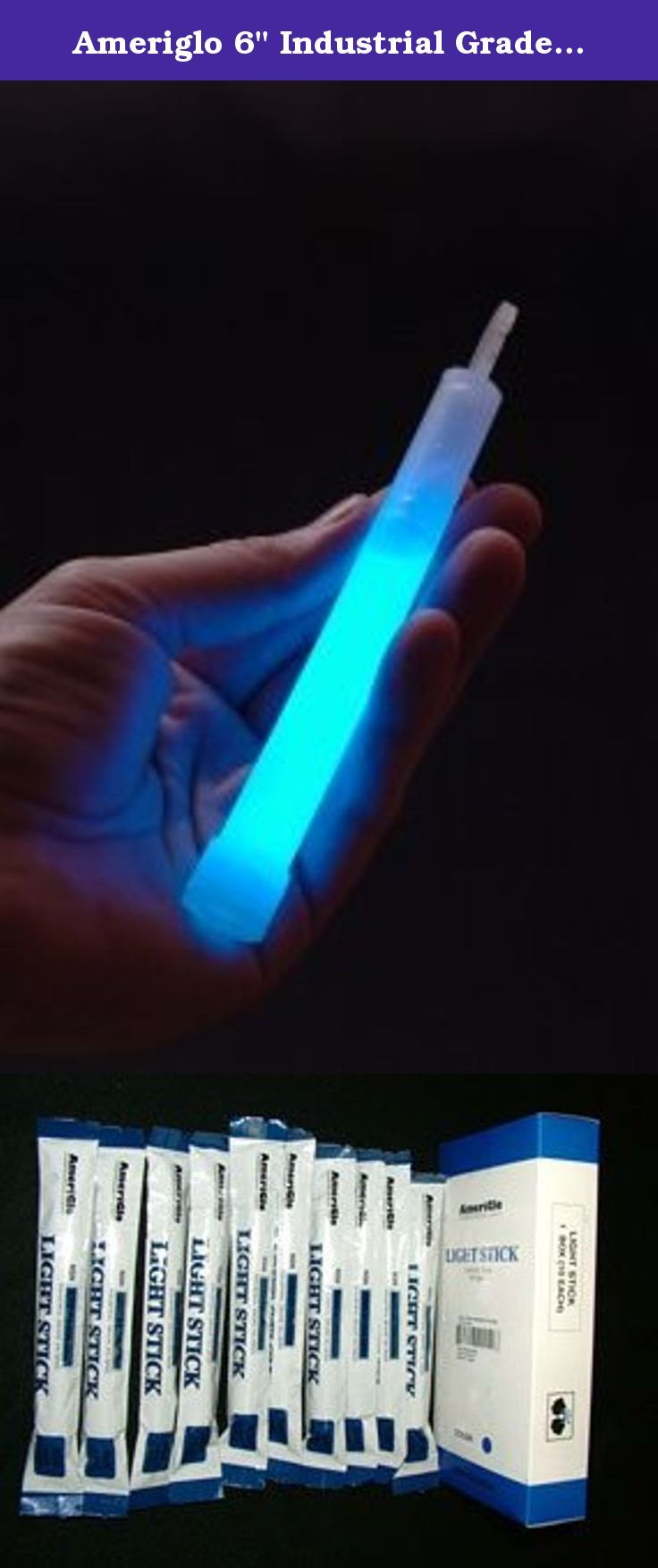 """Ameriglo 6"""" Industrial Grade Safety Light Sticks, 8-hour Tactical: Blue (10 Pack). Used by military, law enforcement, paramedics, campers, hikers, scouts, utility companies, hotels, schools, boaters, and well-prepared individuals. Safe & Dependable to Use Meets Military Specifications Ideal for Long-Term Storage - up to 4 Years Manufactured in an ISO 9002 Certified Facility Various Colors and Sizes Provides up to 8 Hours of Useable Light Complies with Defense Logistics NSN Standards…"""