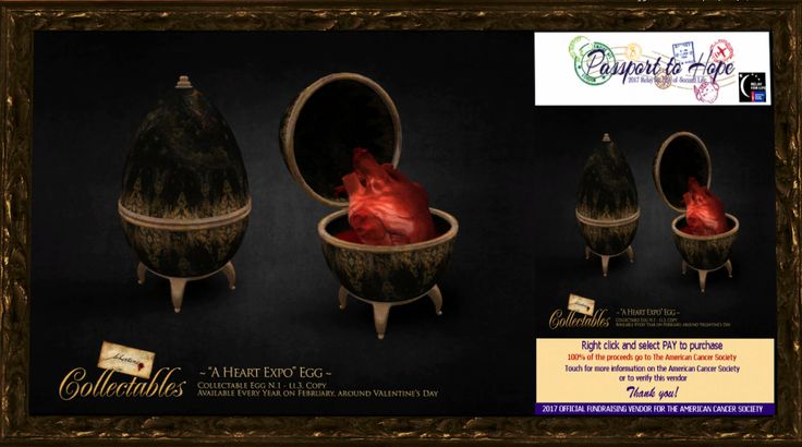 "Fallen Gods - ~Libertine~ Collectable Egg 01 ""A Heart Expo"" - Fantasy Faire: The Rose http://maps.secondlife.com/secondlife/FF%20The%20Rose/67/102/42"