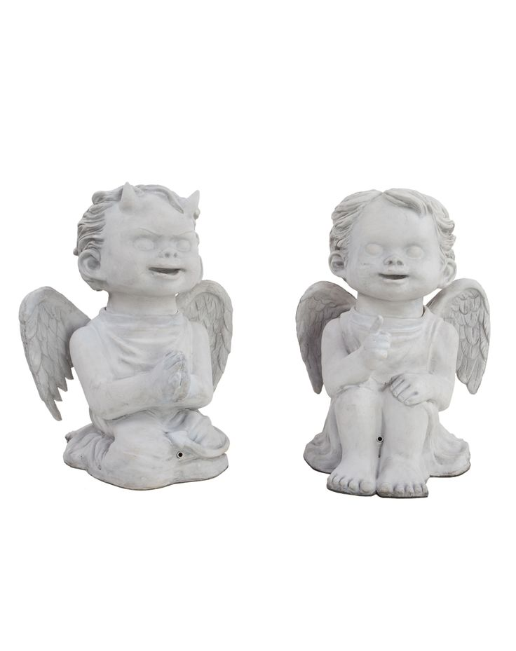 talking cherubs exclusively at spirit halloween creep out your visitors when you decorate with this