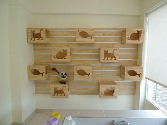 Modular Cat Climbing Wall
