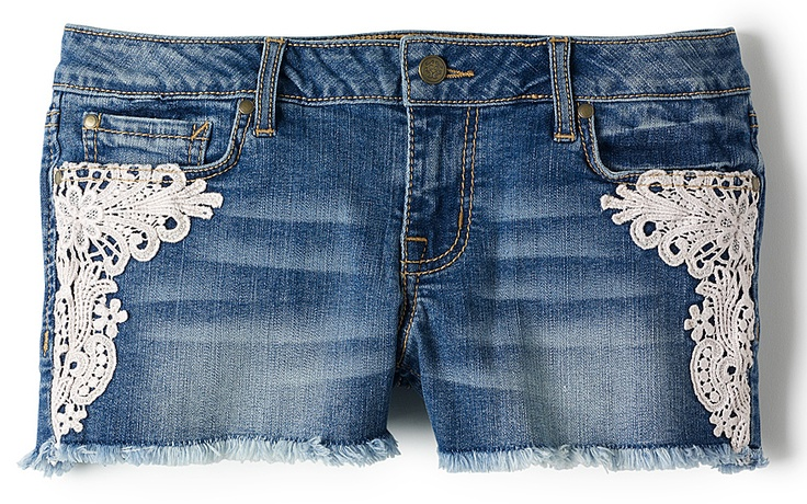 Jessica Simpson Forever Lace Denim Shorts (Bealls)