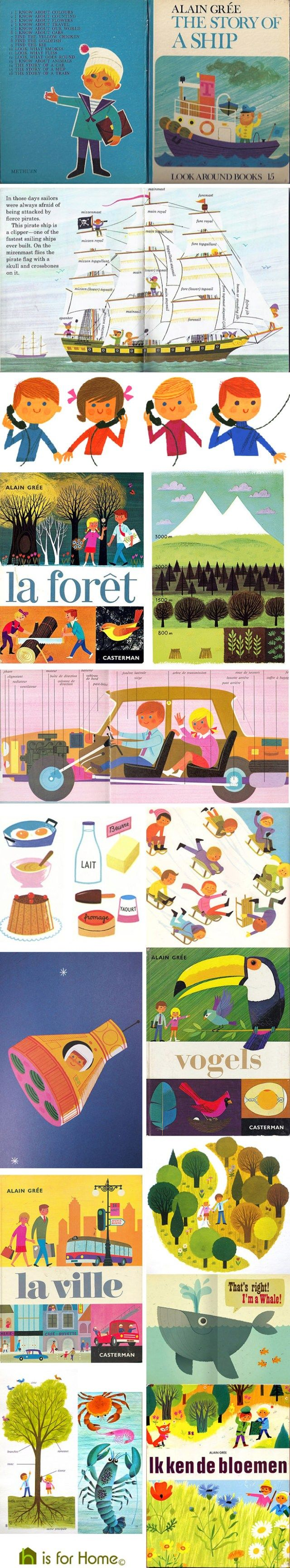 Eighty years old this year (2016), Grée is an illustrator, mainly known for his children's books and board games. #illustration #vintage #graphicdesign