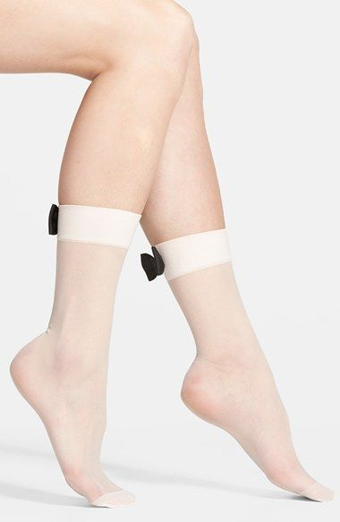kate spade new york bow cuff sheer anklet socks available at #Nordstrom