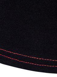Turndown Collar Color Block Panel Design Polo T-Shirt - RED 2XL