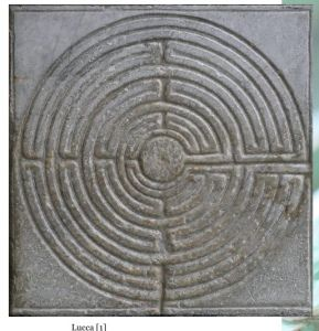 """2015 Lenten Labyrinth Walks 35/40, """"Solvitur Ambulando"""" – It is solved by walking, virtual walk of the finger labyrinth at the Cathedral of San Maritino in Lucca"""