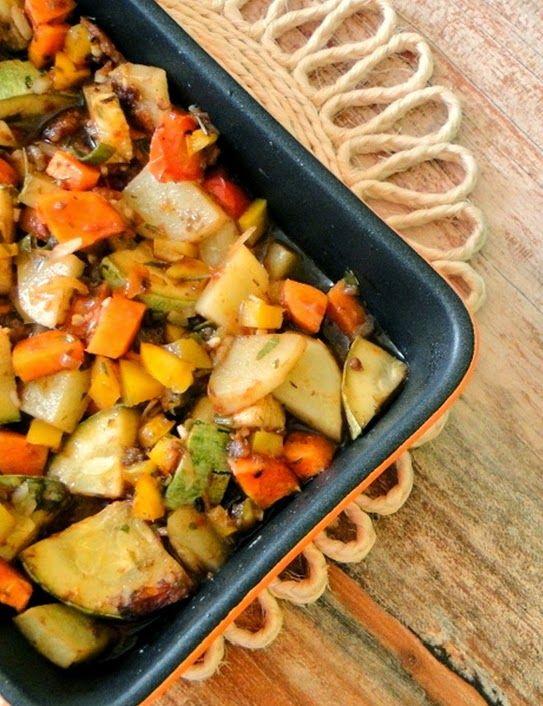 Cantinho Vegetariano: Legumes Assados do Jamie Oliver (vegana)                                                                                                                                                                                 Mais
