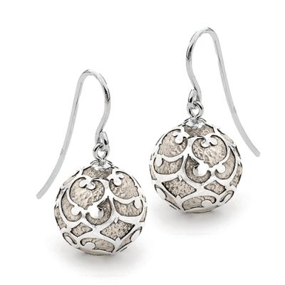 Harmony Ball Earrings - ANTIQUE LACE - Bella Donna Sterling Silver