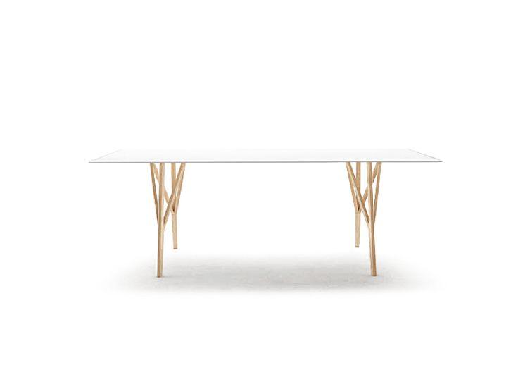 Rectangular wooden table Jalis Collection by COR Sitzmöbel Helmut Lübke | design Jehs Laub