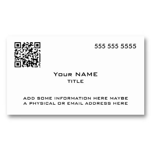 18 best patrick bateman business card template images on pinterest custom qr code modern business card fbccfo Gallery