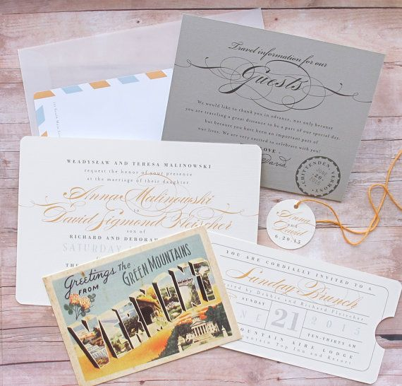 Planning a destination wedding in an exotic location? Or simply hosting a lot of out-of-town guests in your home town? This unique invitation