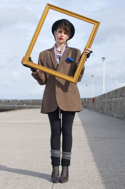 Lucy Boynton in Sing Street - there's so much great 80s fashion inspo in this film!