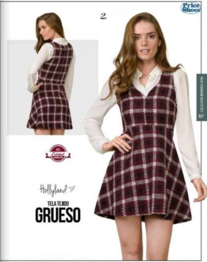 Jumper Vestido de tela Gruesa para Invierno. Jumper de Hollyland de Mujer. catalogo price shoes, #lookcasual #fashionista #chic